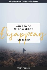 It happens. You've been moving along with a project, and everything's going alright but then the client stops responding. Nothing. Crickets. No response to emails, nothing to phone calls, it's like she fell off the earth. What do you do? Learn what to do when a client disappears--click through now!