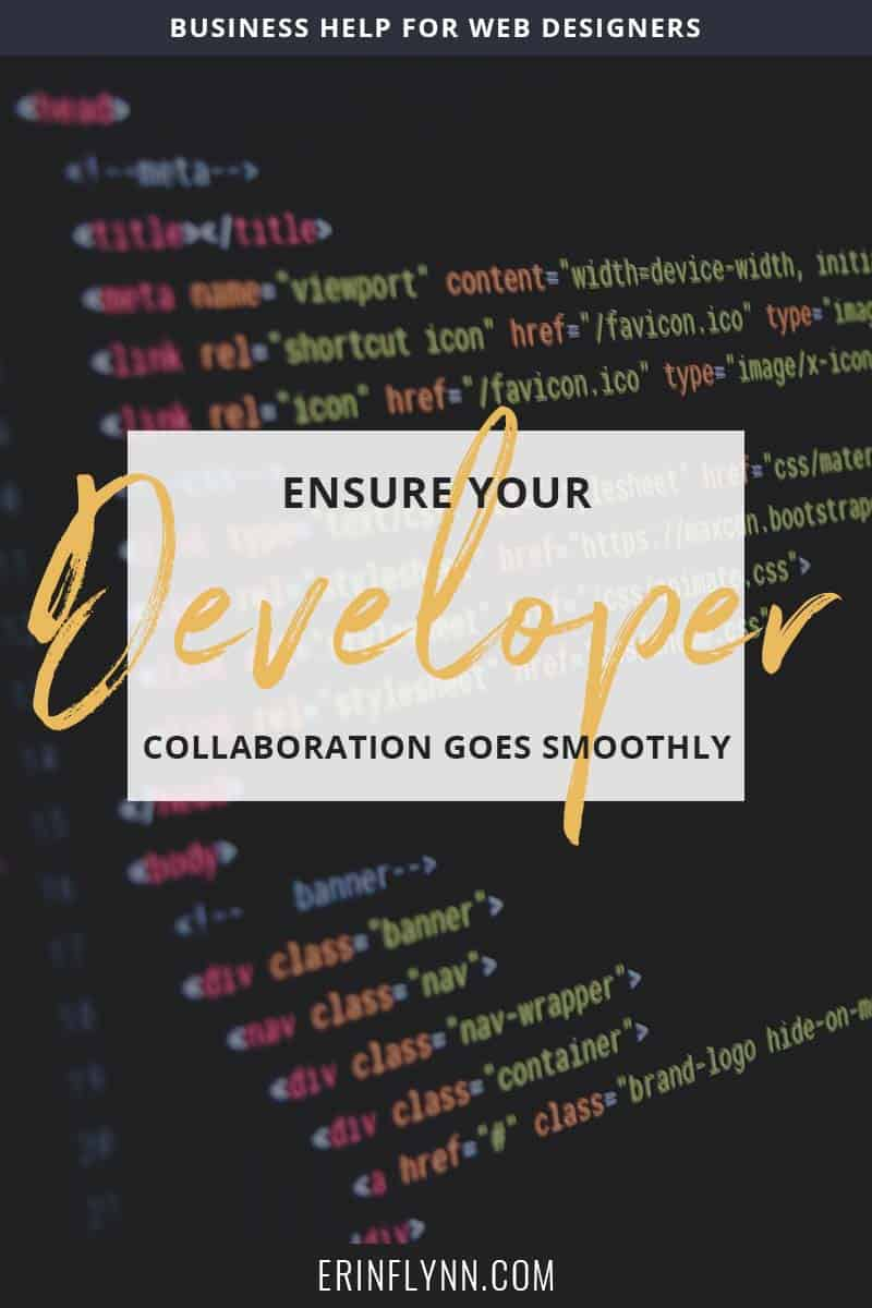 One way you can free up large chunks of time to focus more on design is to outsource your development. It's the perfect way to avoid the tech headaches and make your web design projects go more smoothly. Click through to learn how to collaborate with a developer now!