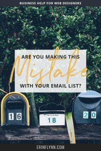 Are you making this huge mistake with your email list? Are you still sending your list a new email each week or so? When new people sign up, do they get whatever your latest article is? If so, you're doing it wrong. Click through to learn the RIGHT way to email your list!