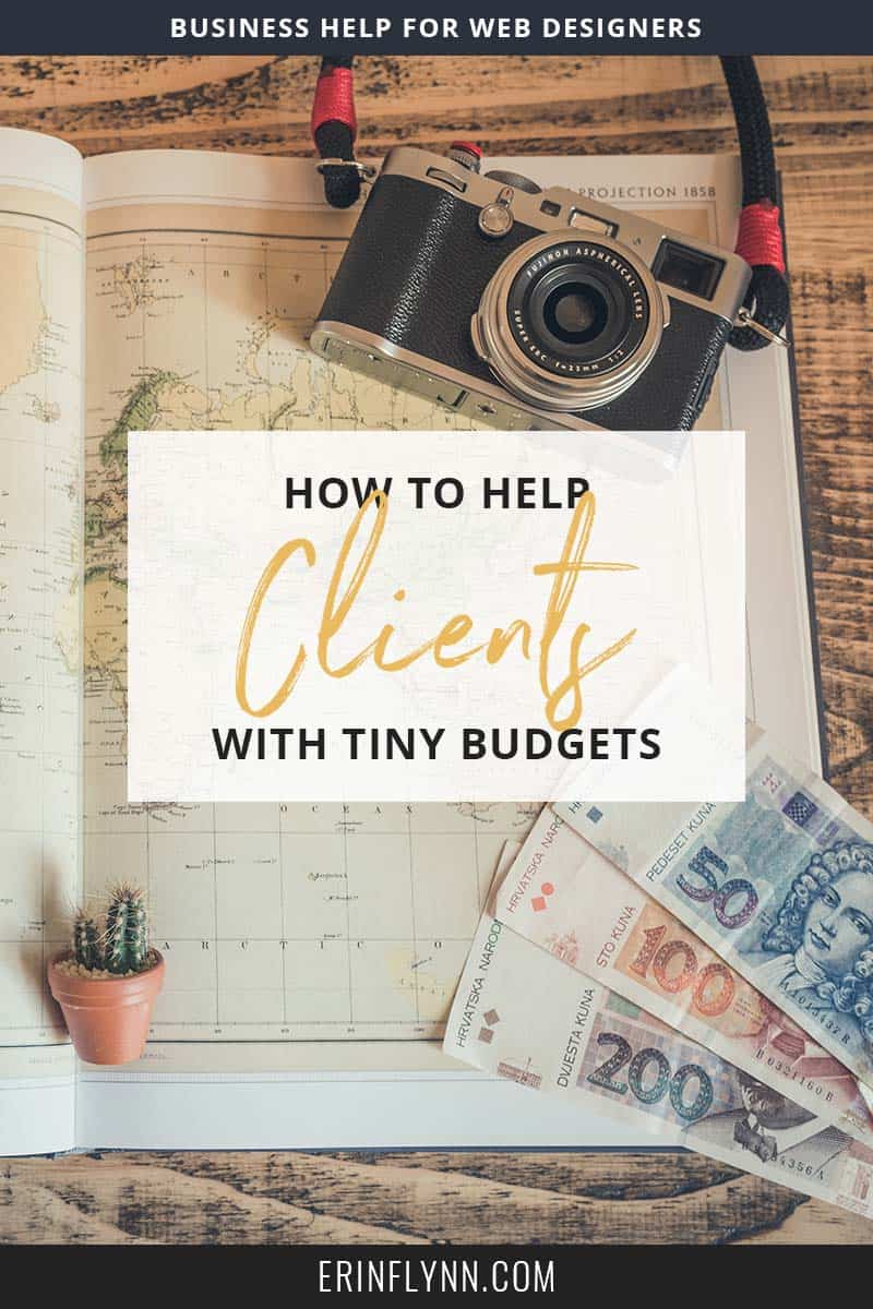 """""""But my clients can't afford a $10,000 website. They can't even afford a $3,000 one!"""" Does that sound like you? How can you serve them, and help the people you want to help? Click through to learn how now!"""