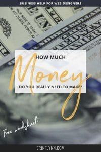 Do you know how much money you actually need to be making? Not some arbitrary dollar amount based on someone else's success, but the amount that YOU actually need? Check out this blog post and download the worksheet to find out!