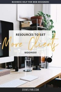 I've said it before, and I'll say it again, getting more clients can be rough. But without clients, you don't have a business! I've rounded up the best client-getting resources I could find. Click through to get more clients now!
