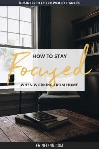 When you work from home, it's hard to stay focused on your business. Click through to find out how to stay focused when working from home!