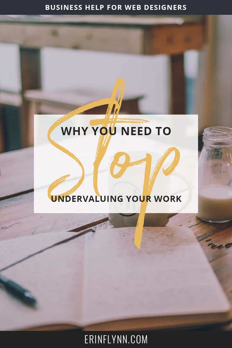 It's not uncommon for me to run across bloggers offering web design services for prices that make me cringe. You're under-charging! Learn why you need to stop in this post!