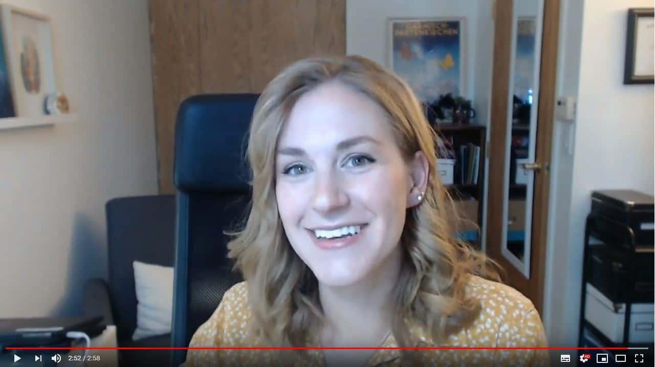 Erin Flynn teaching online