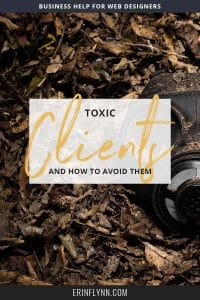 Toxic clients ain't no thang to to joke about, and unfortunately, most don't even talk about it. Everyone talks about the good stuff: How successful they are, because they have clients out the wahzoo. How they're making so much moolah. But the truth is: A terrible client can make or break your business and especially your mindset. So it's certainly worth talking about. Click through to read the post!