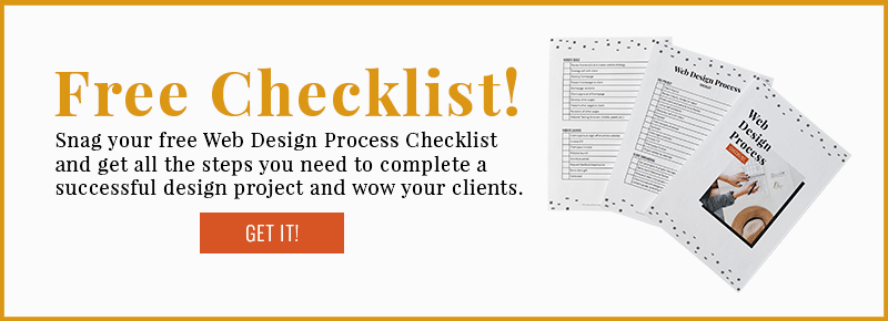 Snag your FREE web design process checklist!